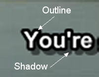 TextSub: Outline and Shadow